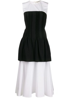 Nina Ricci pleated corset flared dress