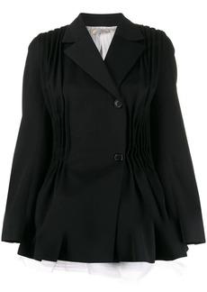 Nina Ricci pleated detail flared blazer jacket