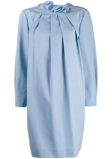 Nina Ricci pleated front mini dress