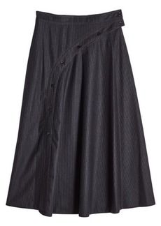 Nina Ricci Printed Wool Skirt