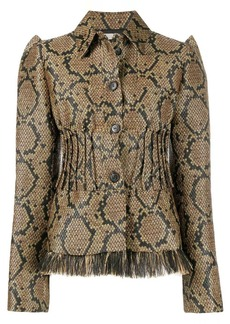 Nina Ricci reptile pattern fitted jacket
