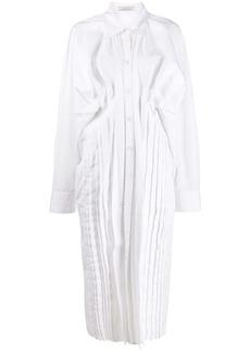 Nina Ricci ruched side shirt dress