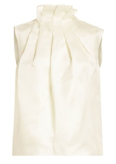 Nina Ricci Ruffle-Neck Silk Organza Top