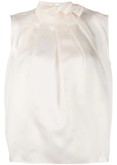 Nina Ricci ruffle-neck sleeveless blouse