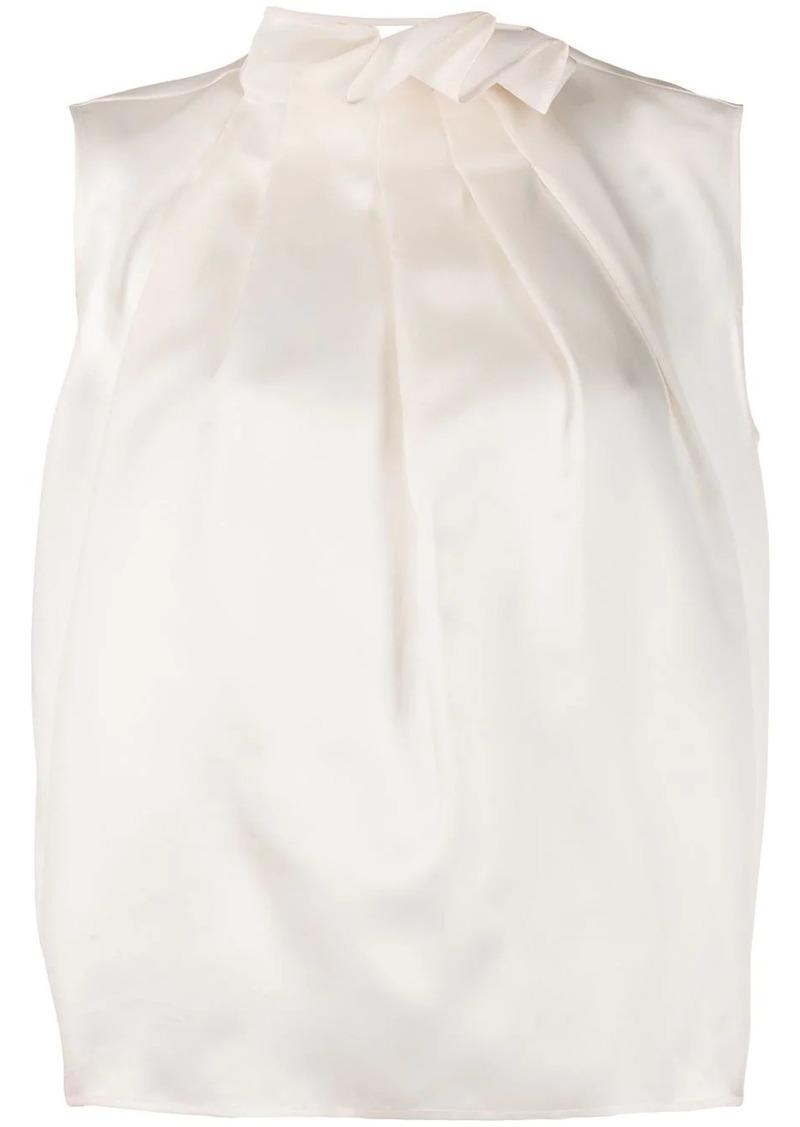 Nina Ricci ruffle-neck sleeveless blouse