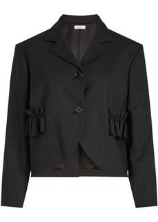 Nina Ricci Ruffle Pocket Wool Jacket