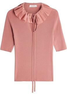 Nina Ricci Ruffled Collar Wool Top