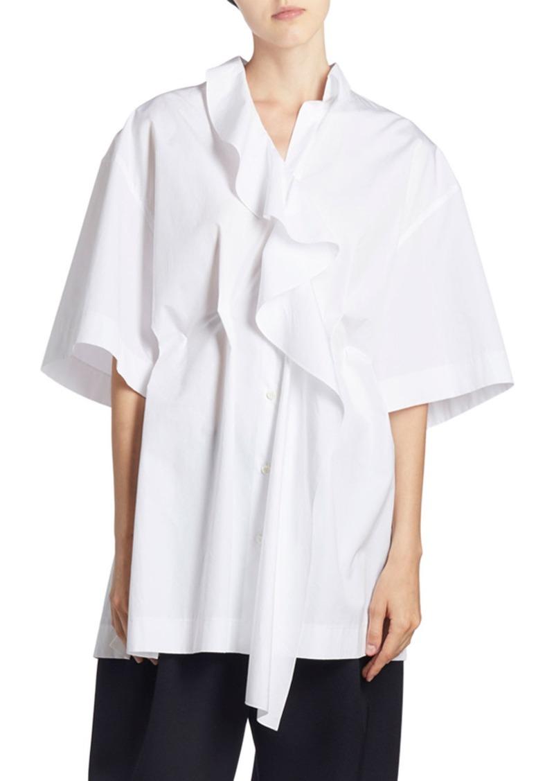 Nina Ricci Ruffled-Front Oversized Shirt