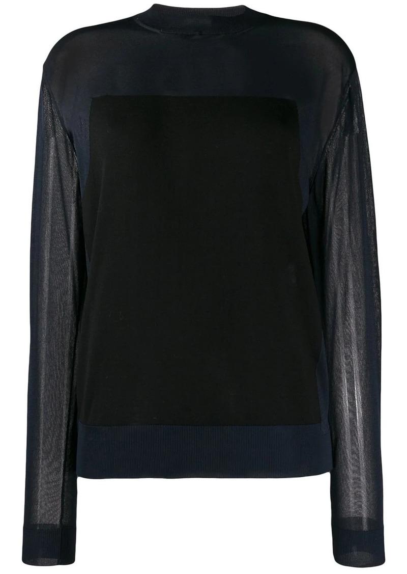 Nina Ricci sheer long sleeve top