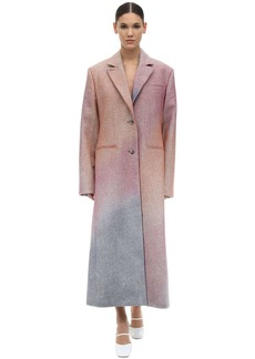 Nina Ricci Spray One Breast Wool Gabardine Coat