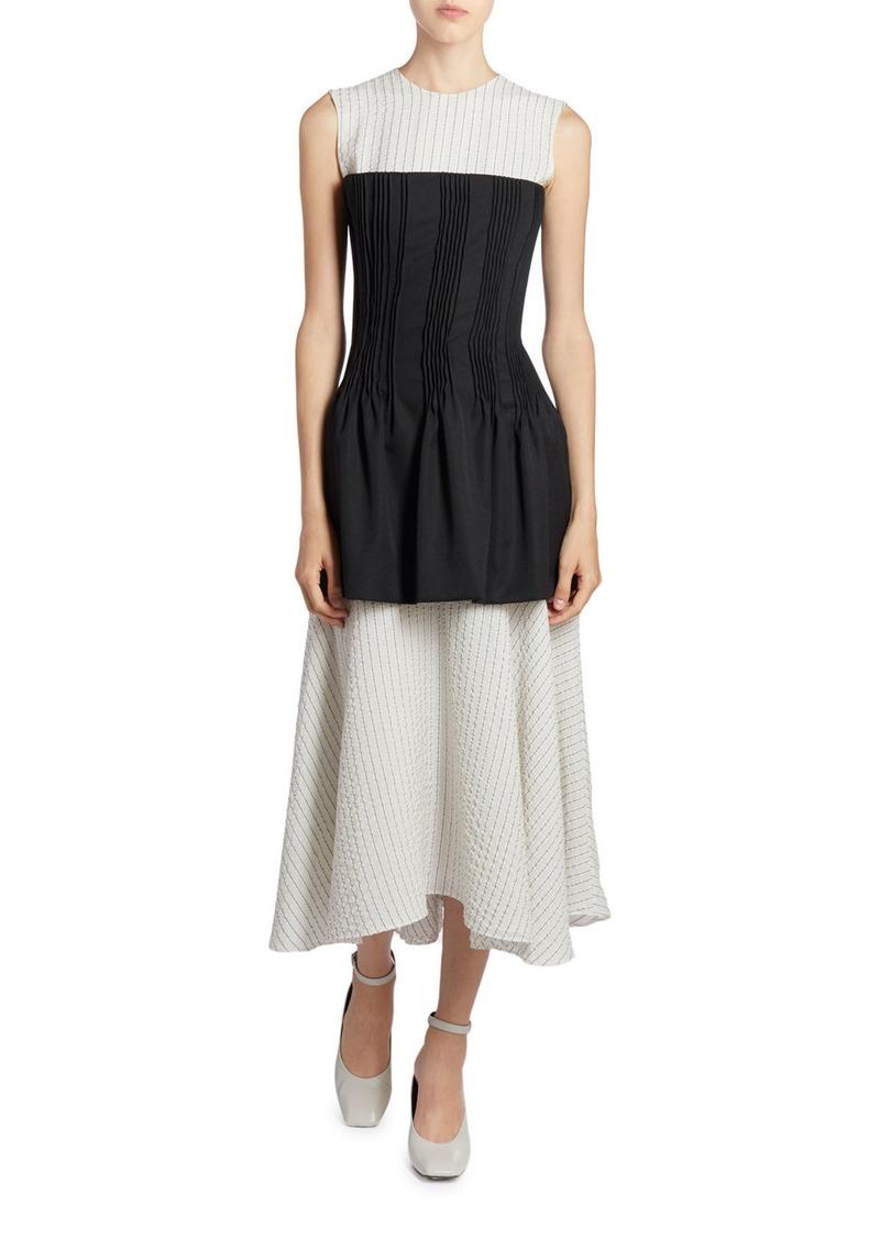 Nina Ricci Striped Corseted Dress