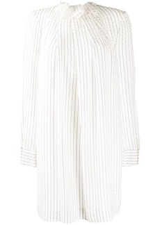 Nina Ricci striped high neck dress