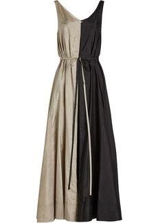 Nina Ricci Two-Tone Dress with Silk