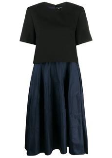 Nina Ricci two tone midi dress