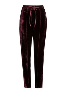 Nina Ricci Velvet Pants with Silk