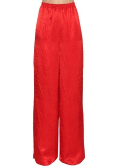 Nina Ricci Wide Leg Satin Pants