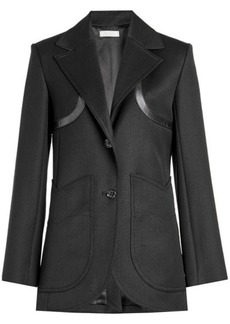 Nina Ricci Wool Blazer with Leather Trims