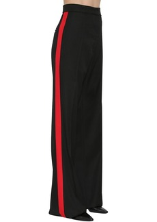 Nina Ricci Wool Gabardine Pants W/ Side Bands