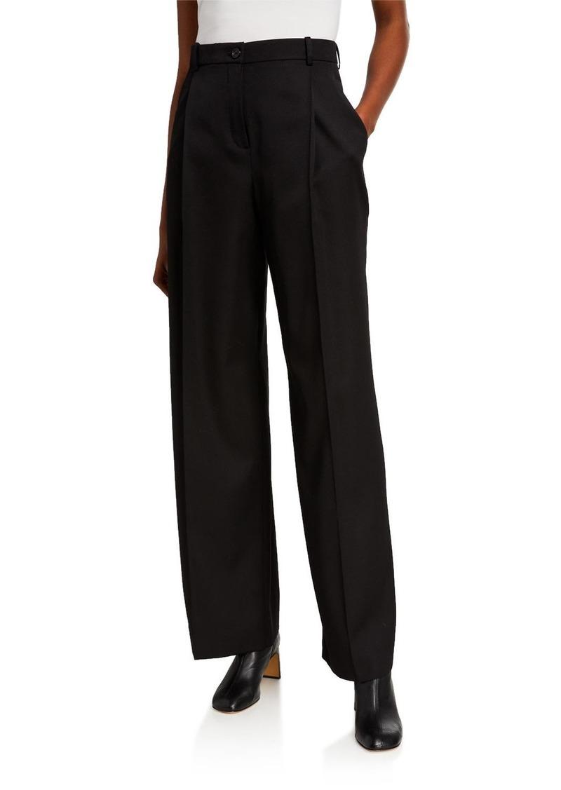 Nina Ricci Wool Gabardine Trousers