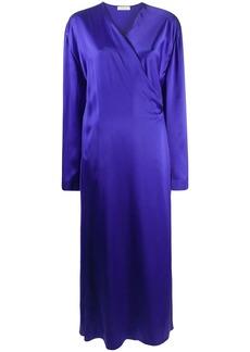 Nina Ricci wrap-front maxi dress