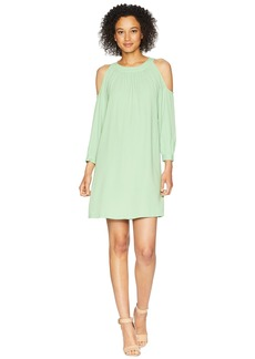 Nine West 3/4 Sleeve Cold Shoulder Shift Dress
