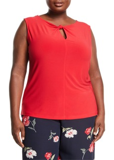 Nine West Knot-Neck Sleeveless Blouse  Plus Size