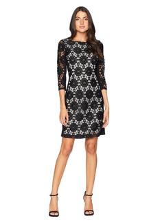 Nine West Lace Ponte Combo Dress