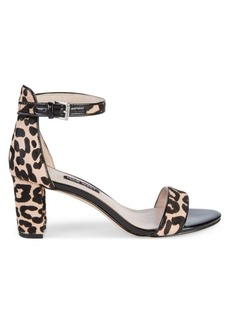 Nine West Leopard Print Cow Hair d'Orsay Sandals