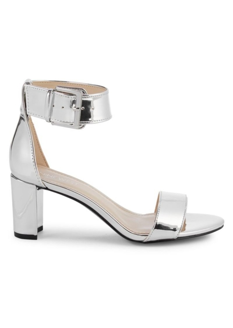Nine West Metallic Ankle-Strap Sandals