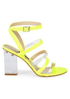 Nine West Mod Transparent Heel Sandals