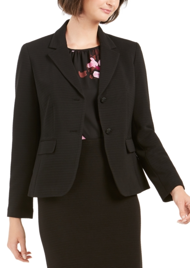Nine West 2-Button Textured Blazer