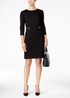 Nine West 3/4-Sleeve Ponte-Knit Sheath Dress