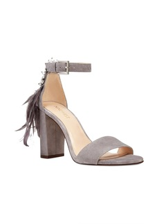 Nine West Aaronita Feather Block Heel Sandal (Women)