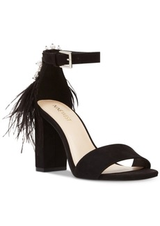 Nine West Aaronita Feather Dress Sandals Women's Shoes