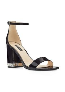 Nine West Abigail Crystal Embellished Ankle Strap Sandal (Women)