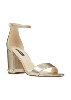 Nine West Abigail Crystal Embellished Ankle Strap Sandal (Women)