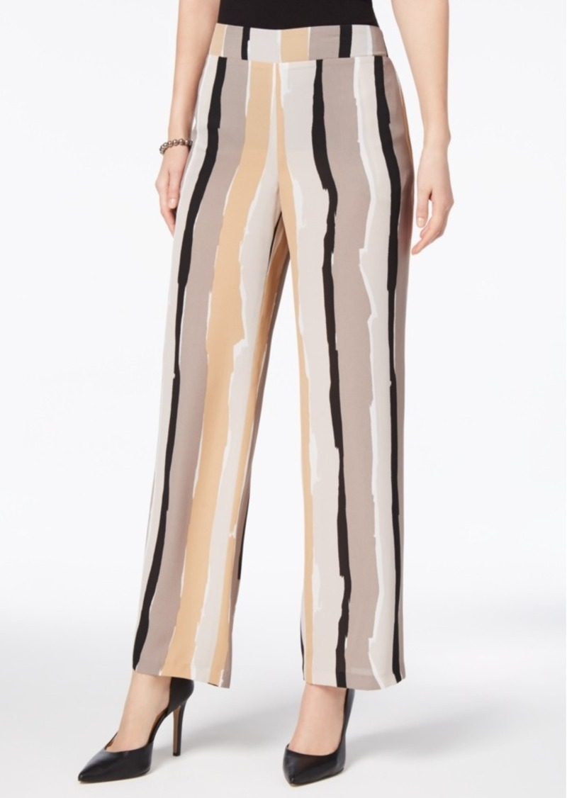 76810c7b766 Nine West Nine West Abstract-Stripe Wide-Leg Trousers