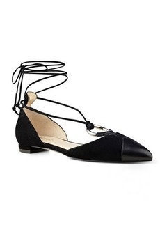 Nine West Alice Pointy Toe Ghillie Flats