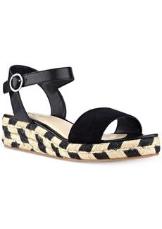 Nine West Allium Two-Piece Platform Wedge Sandals Women's Shoes