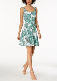 Nine West Floral Printed Fit & Flare Dress, Created for Macy's