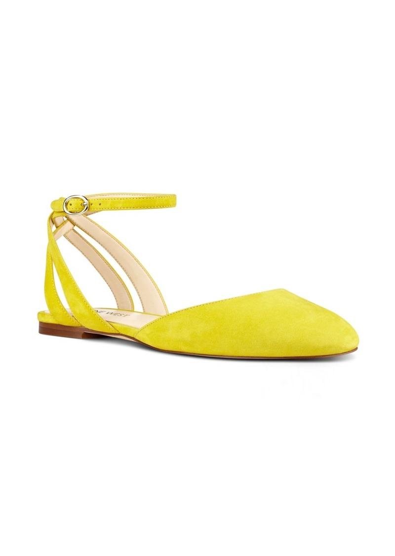 Nine West Begany Ankle Strap Flat (Women)