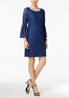 Nine West Bell-Sleeve Lace Sheath