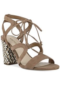 Nine West Bizzy Block-Heel Lace-Up Sandals Women's Shoes