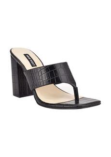 Nine West Block Heel Flip Flop (Women)