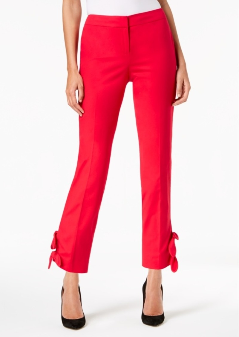 5ec16d79218 Nine West Nine West Bow-Trim Straight-Leg Pants Now  23.73