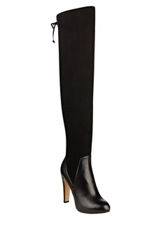 Nine West Brenna Leather-Blend Over-the-Knee Dress Boots