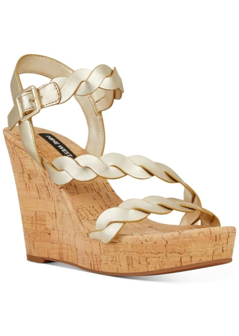 Nine West Brette Platform Wedge Sandals Women's Shoes
