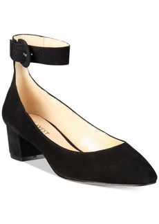 Nine West Brianyah Buckle Block-Heel Pointed Pumps Women's Shoes
