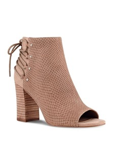 Nine West Britt Textured Suede Peep Toe Ankle Boots