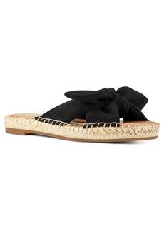 Nine West Brock Bow Espadrille Flat Sandals Women's Shoes